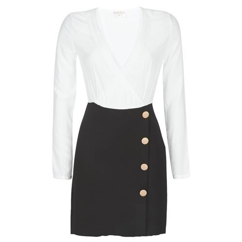 Clothing Women Short Dresses Moony Mood LUCE Black / White