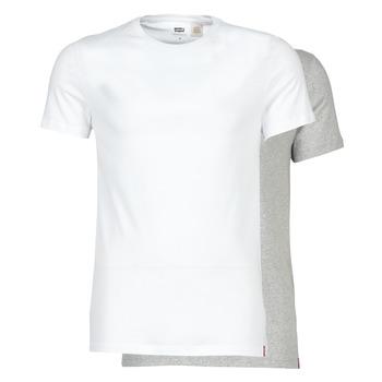 Clothing Men Short-sleeved t-shirts Levi's SLIM 2PK CREWNECK 1 White / Grey