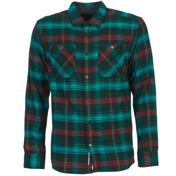 Clothing Men long-sleeved shirts DC Shoes VIBRATION Black / Blue / Red