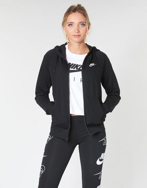 Clothing Women Sweaters Nike W NSW ESSNTL HOODIE FZ FLC Black