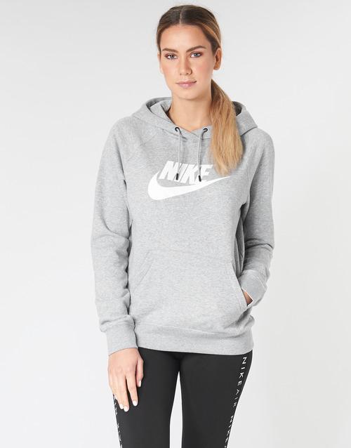 Clothing Women Sweaters Nike W NSW ESSNTL HOODIE PO  HBR Grey