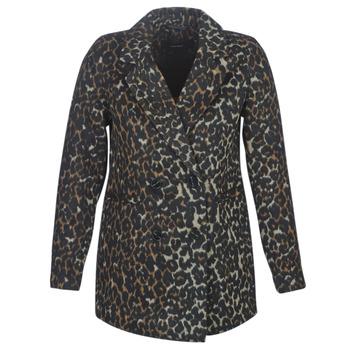 Clothing Women Coats Vero Moda VMCOCOLEOPARD Brown