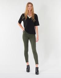 Clothing Women 5-pocket trousers Vero Moda VMSEVEN Kaki