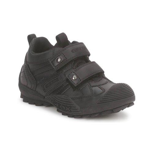 Shoes Boy Low top trainers Geox JR SAVAGE Black