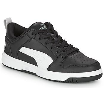 Shoes Boy Low top trainers Puma REBOUND LAYUP N Black