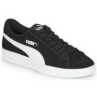 Shoes Boy Low top trainers Puma Puma Smash v2 SD Jr Black