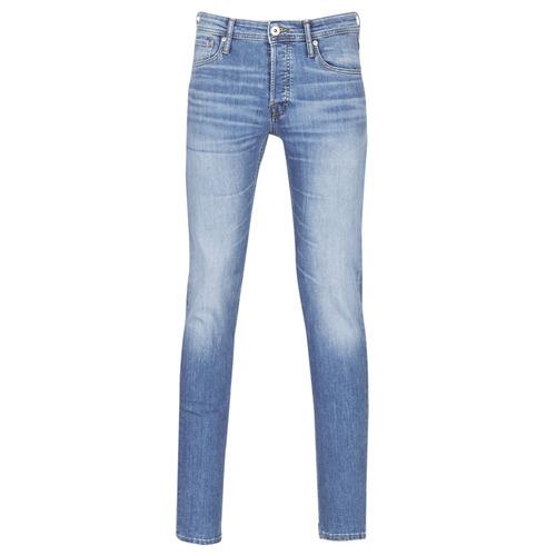 Clothing Men Slim jeans Jack & Jones JJIGLENN Blue / Clear
