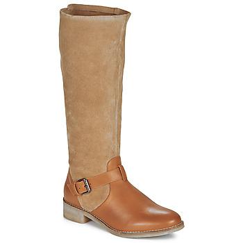 Shoes Women High boots André ELIA Camel