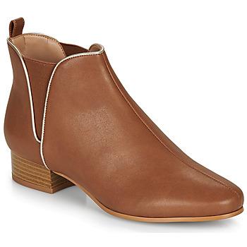 Shoes Women Mid boots André VERVEINE Camel