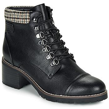 Shoes Women Mid boots André EIGER Black / Varnish