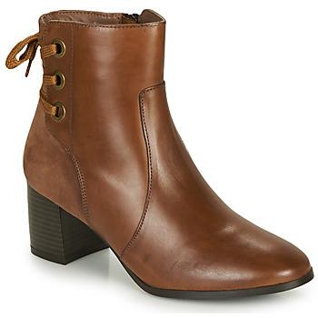 Shoes Women Ankle boots André MANON Scale / Camel