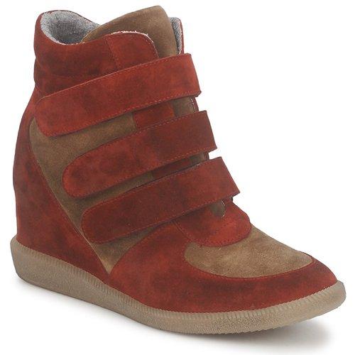 Shoes Women Hi top trainers Meline IMTEK BIS Brown / Red