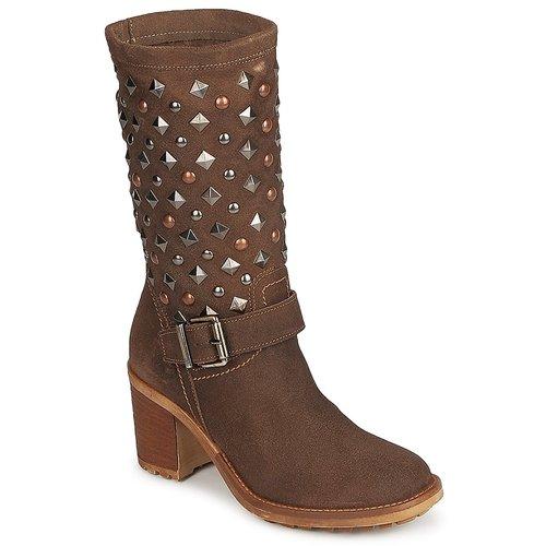 Shoes Women High boots Meline DOTRE Brown