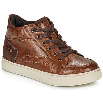 Shoes Boy Hi top trainers André FABOU Brown