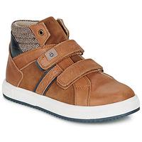 Shoes Boy Hi top trainers André TIMOTHE Brown