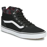 Shoes Men Hi top trainers Vans WARD NR MON Black