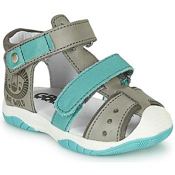 Shoes Boy Sandals GBB EUZAK Grey / Blue