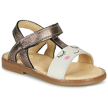 Shoes Girl Sandals GBB NAZETTE Beige / Bronze