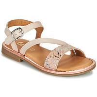 Shoes Girl Sandals GBB FANA Beige / Pink