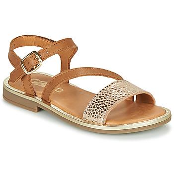 Shoes Girl Sandals GBB FANA Cognac