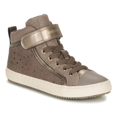 Shoes Girl Low top trainers Geox KALISPERE Beige