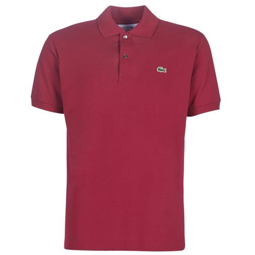 Clothing Men Short-sleeved polo shirts Lacoste POLO L12 12 REGULAR Bordeaux