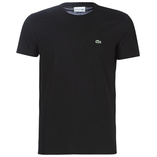 Clothing Men Short-sleeved t-shirts Lacoste TH6709 Black