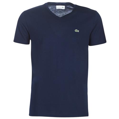 Clothing Men Short-sleeved t-shirts Lacoste TH6710 Marine
