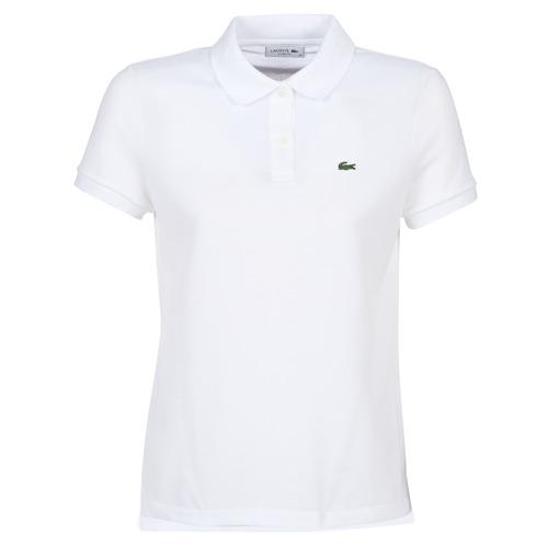 Clothing Women Short-sleeved polo shirts Lacoste PF7839 White