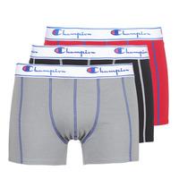 Underwear Men Boxer shorts Champion BOXER UNIS PACK DE 3 Red / Grey / Black