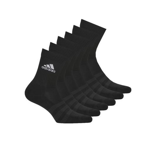 Shoe accessories Sports socks adidas Performance CUSH CRW 6PP Black