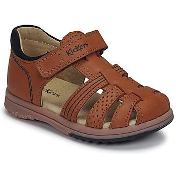 Shoes Boy Sandals Kickers PLATIBACK Brown