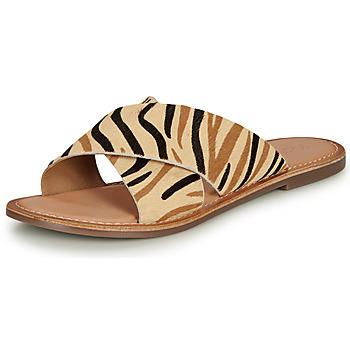 Shoes Women Mules Kickers DIAZ-2 Beige / Black / Brown