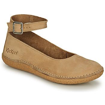 Shoes Women Flat shoes Kickers HONNORA Beige