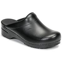 Shoes Men Clogs Sanita KARL OPEN Black