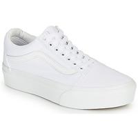 Shoes Women Low top trainers Vans OLD SKOOL PLATFORM White