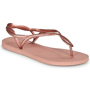 Shoes Women Flip flops Havaianas LUNA Pink / Gold