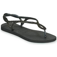 Shoes Women Flip flops Havaianas LUNA PREMIUM Black