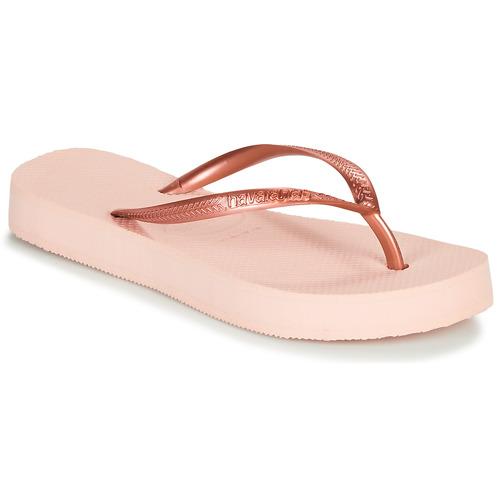 Shoes Women Flip flops Havaianas SLIM FLATFORM Ballet / Pink