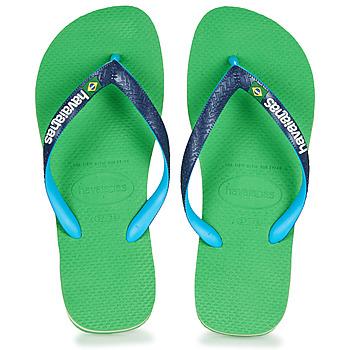Shoes Flip flops Havaianas BRASIL MIX Green / Blue