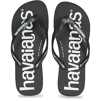 Shoes Men Flip flops Havaianas TOP LOGOMANIA  black