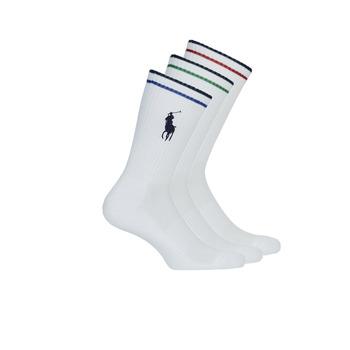 Shoe accessories Men Socks Polo Ralph Lauren 3PK BPP-SOCKS-3 PACK White