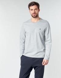 Clothing Men Long sleeved tee-shirts Polo Ralph Lauren L/S CREW-CREW-SLEEP TOP Grey