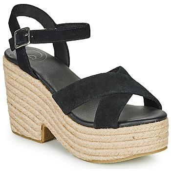 Shoes Women Sandals Superdry HIGH ESPADRILLE SANDAL Black