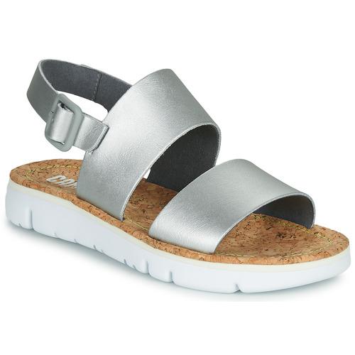 Shoes Women Sandals Camper ORUGA Silver