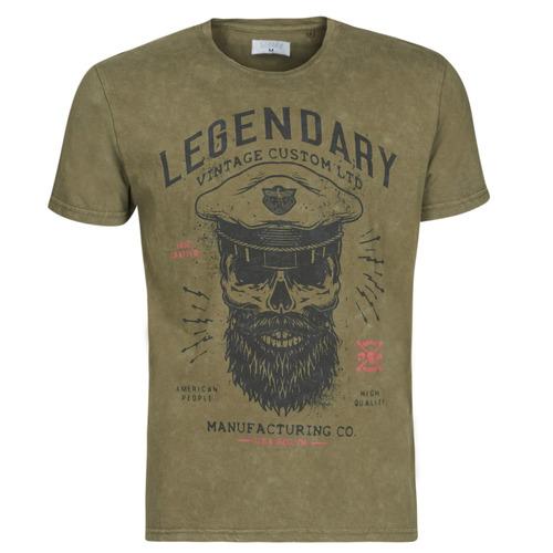 Clothing Men short-sleeved t-shirts Casual Attitude MCOOL Kaki