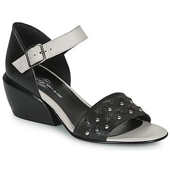Shoes Women Sandals Fru.it LEMMINE Black / White