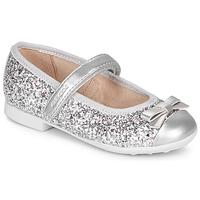 Shoes Girl Flat shoes Geox JR PLIE' Silver