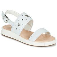 Shoes Girl Sandals Geox J SANDAL REBECCA GIR White