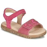 Shoes Girl Sandals Geox J SANDAL HAITI GIRL Fuschia